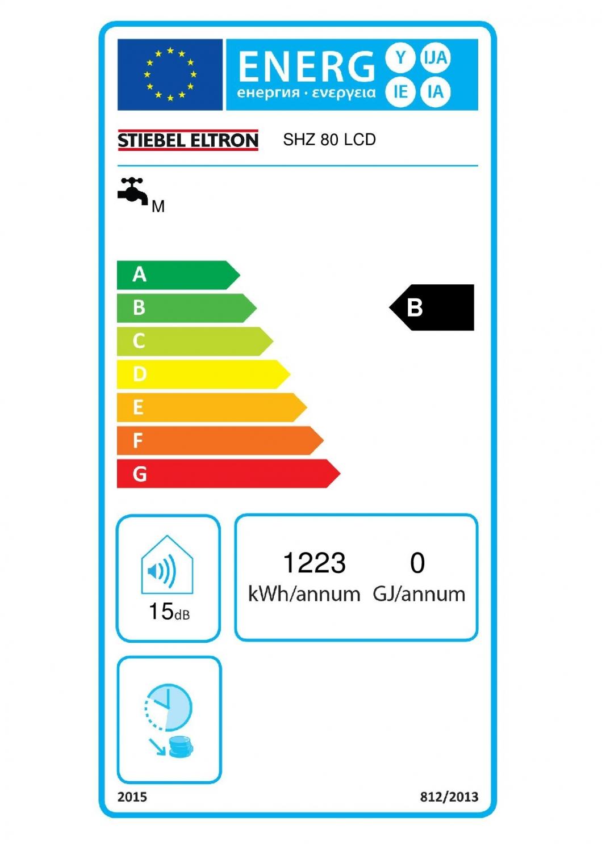 80 liter boiler stiebel eltron shz lcd eco. Black Bedroom Furniture Sets. Home Design Ideas