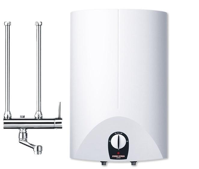 Warmwasserboiler Stiebel Eltron stiebel eltron close-up 10 liter boiler compleet met kraan