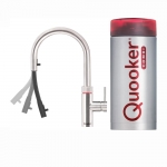 Quooker Flex round RVS met Combi+ reservoir